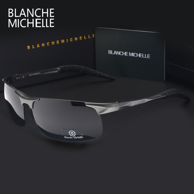 High Quality Ultra-light Aluminum Magnesium Sport Sunglasses Polarized Men UV400 Rectangle Gold Outdoor Driving Sun Glasses 3