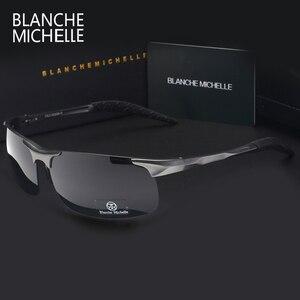Image 3 - Высокое качество, ультра светильник, алюминиево магниевые спортивные солнцезащитные очки, поляризованные мужские UV400 прямоугольные золотые очки для вождения на открытом воздухе очки солнцезащитные мужские sunglasses