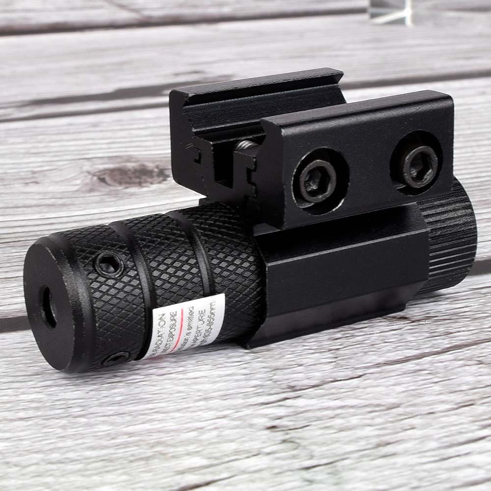 Powerful Tactical Mini Red Dot Laser Sight Scope Weaver Picatinny Mount Set for Gun Rifle Pistol Shot Airsoft Riflescope Hunting-3