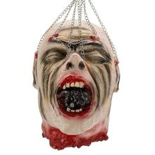 Halloween Props Hanging Bloody Dead Man Evil Head Latex Horror Haunted Scary Room Decoration Style 03