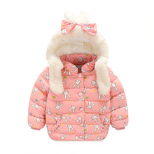 Russia Winter Girls Clothes 2016 Children's Outerwear Kids Hooded Down Jacket Cotton-padded Clothes Girls Overcoat