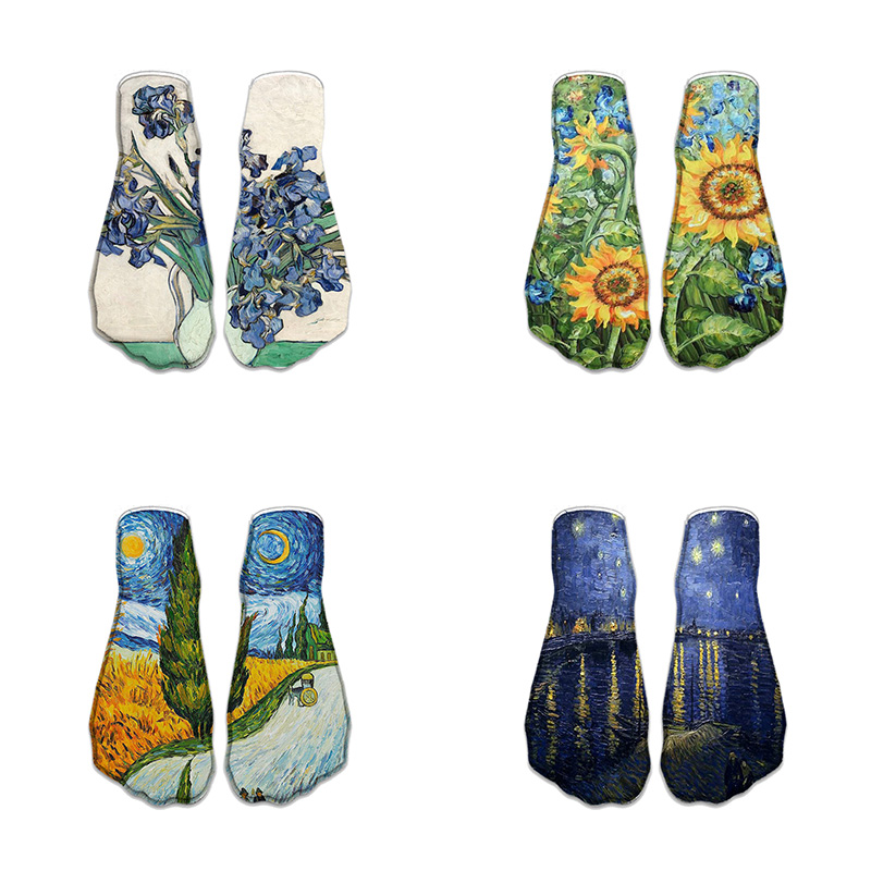 New Fashion Cute Sunflower 3D Print Socks Women Ankle Socks Plant Classic Oil Painting Sock Art Socks For Female 7ZJQ-ZWS52
