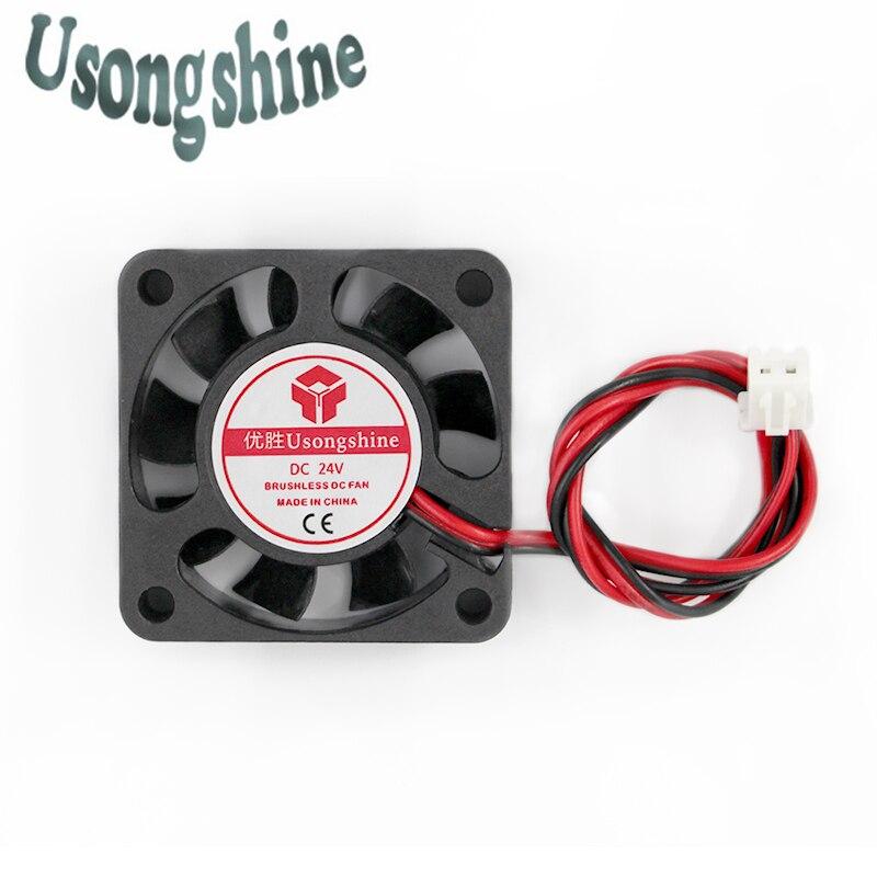 1pcs 4010Fan 4010 Mini Fan 24V 40x40x10mm 2-Pin Computer PC VGA Video Heat Spread Cooler Cooling Fan for stepper motor