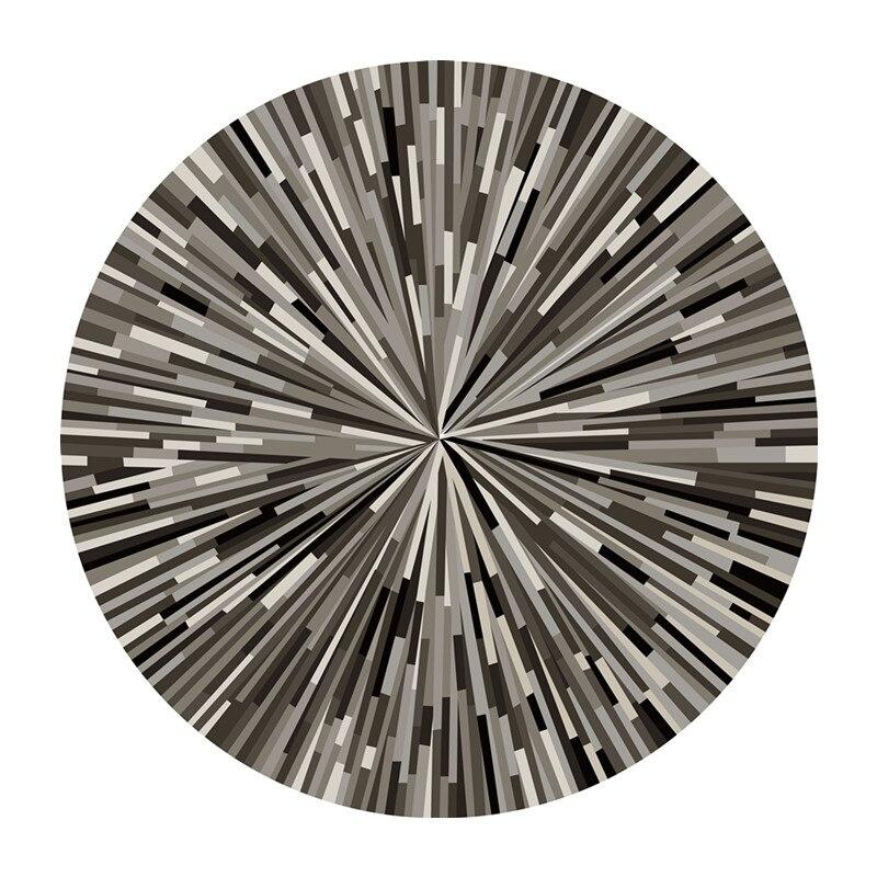 Hypermoderne Geometrische striped teppiche schwarz und weiß grau einfache DX-48