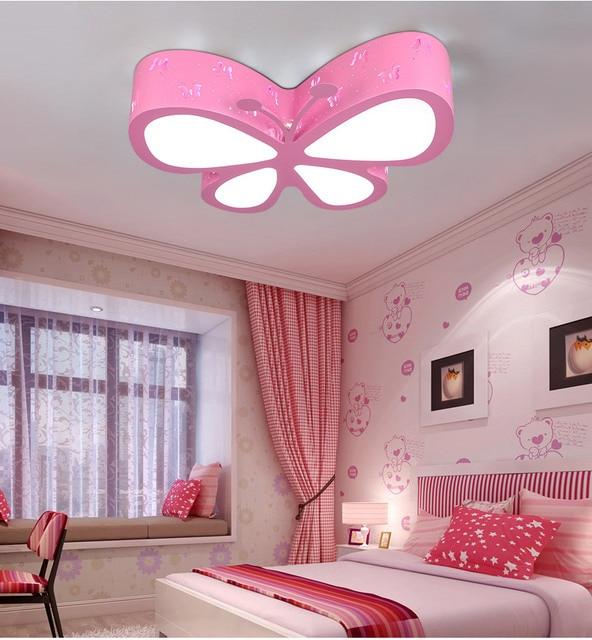 Kinderzimmer ideen für mädchen prinzessin  Kinderzimmer led deckenleuchte Kreative persönlichkeit Schmetterling ...