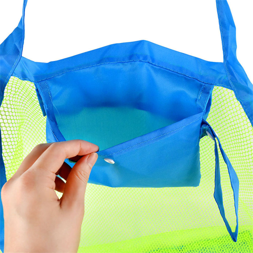 1Pc Stay Away From Sand Toy Swim Sport Bag Mounchain Durable Toys Balls Mesh Tote Bag Beach Swimming Children Beach Toys