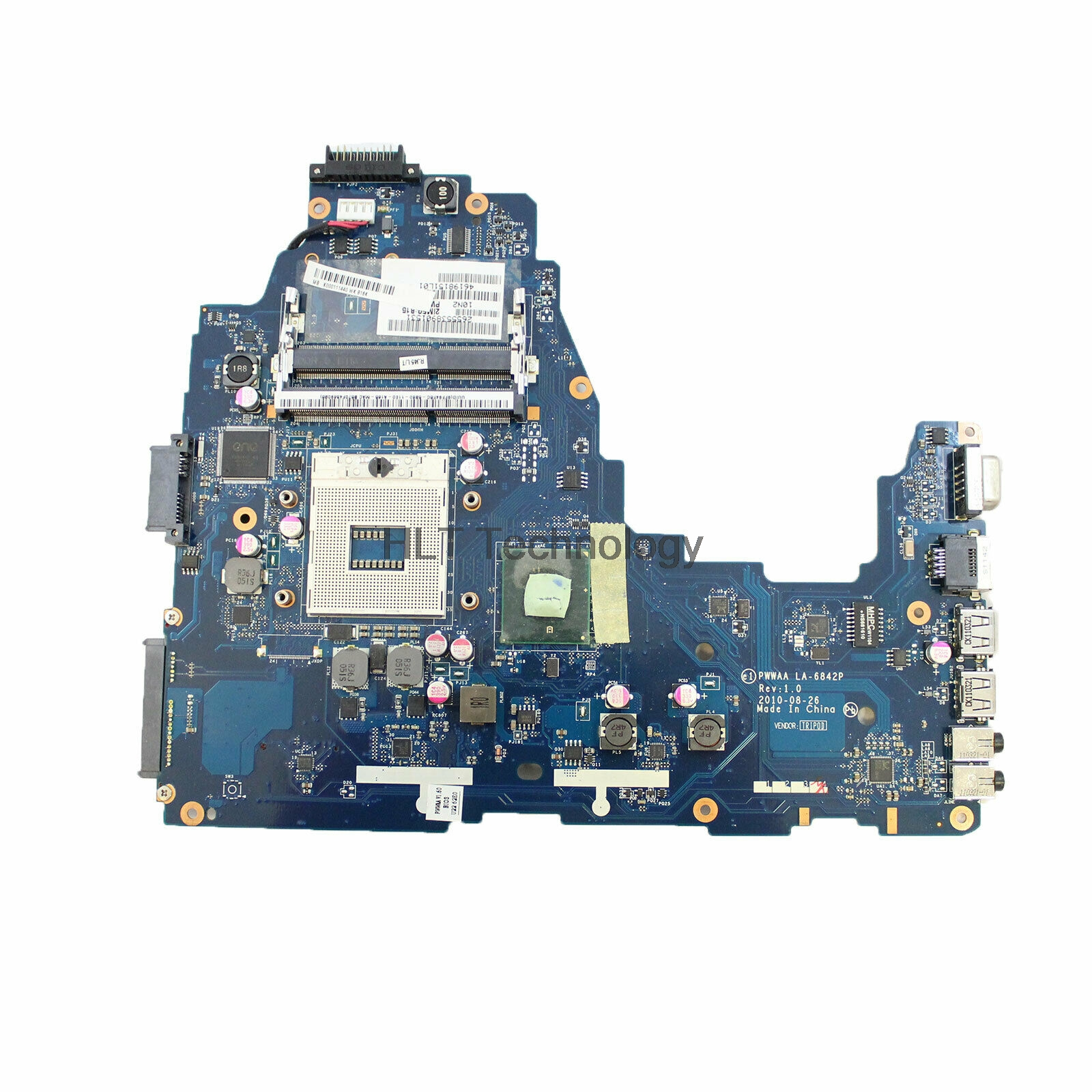 HOLYTIME Laptop Motherboard For Toshiba C660 PWWAA LA-6842P K000111440 DDR3 HM55 DDR3 100% Tested image