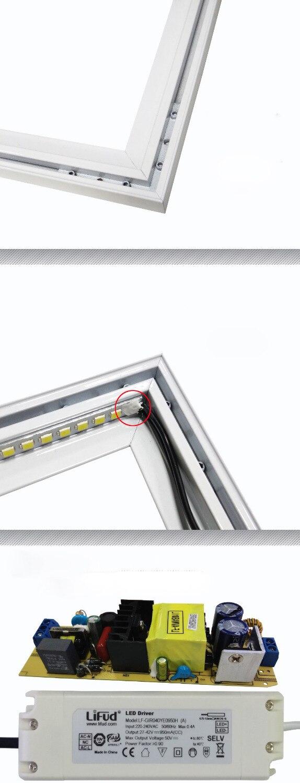 conduziu a luz do painel com 24g controle remoto cct 05