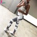 Goodbuy 2016 das Mulheres Leggings Aptidão Patchwork Americano EMIRADOS ÁRABES UNIDOS Trabalhar Fora de Algodão Mulheres Senhora Calças Legging Jeggings Leggins Elásticas