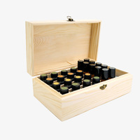 Wooden Storage Box doTERRA Simple 18 Slots Essential Oil Bottle Storage Box Wooden Aromatherapy Organizer Case Home Container