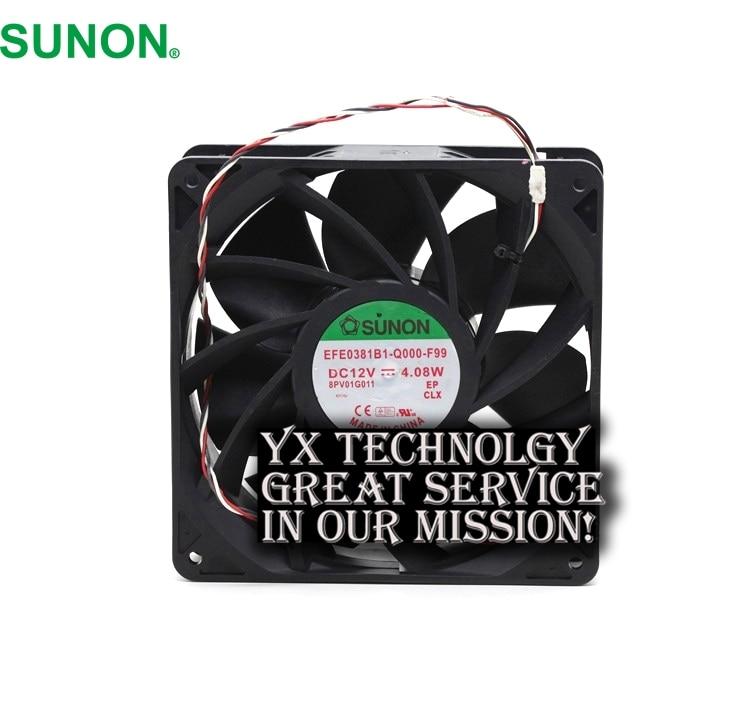 SUNON New EFE0381B1-Q000-F99 14CM 12V 4.08W durable dual ball bearing fan  140 * 140 * 38mm delta new 14050 24v2 3a ffb1424shg super wind 14cm dual ball bearing cooling fan 140 140 50mm