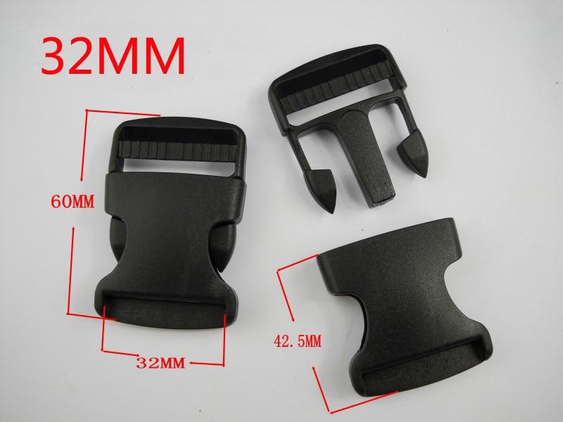 Plastic Hardware Dual Adjustable Side Release Buckles Molle Tatical Backpack Belt Bag Parts Strap Webbing 32MM