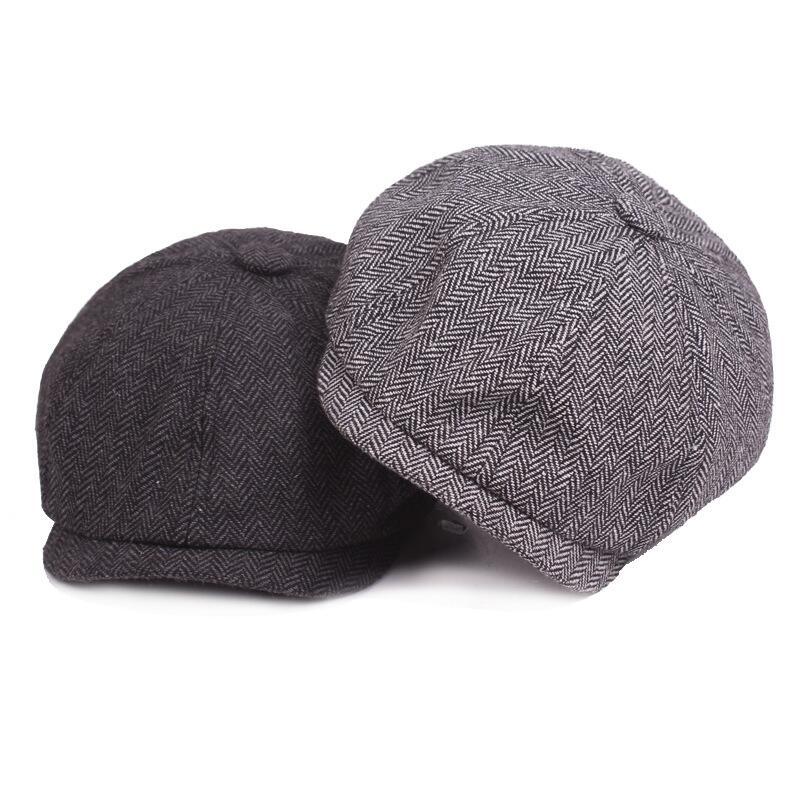 c8276e40d8 2018 New Hot Fashion Gentleman Octagonal Cap Newsboy Beret Hat Autumn And  Winter For Men s Jason