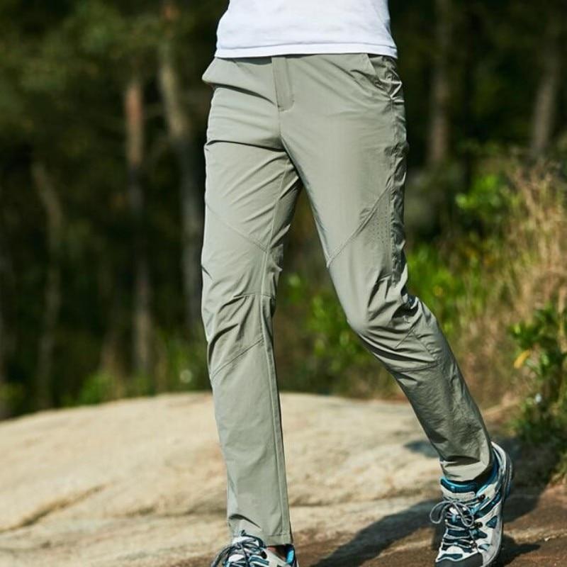 2017 Summer Breathable Slim Fit Elastic Softshell Sports Pants For Men Climbing Hiking Big Plus L-5XL Mens Trousers Fishing Pant