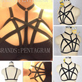 Women Body Caged Bralette Goth Harness Inspired Bondage Crop Top Frame Black Elasticity Sexy Garter Belt Fetish Funny Exotic bra