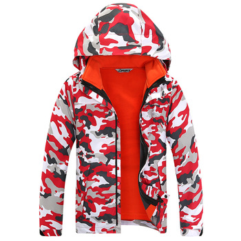 Waterproof Index 15000mm Double-deck Windproof Boys Girls Jackets Children Outerwear Warm Child Coat For 4-16 Years Old Outwear & Coats