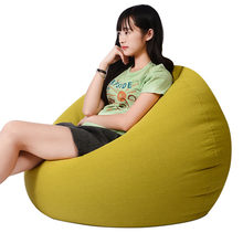 Living Room Soft Bean Bags Adults Kids Bean Bag Chair Sofas Living Room Lounger Bean Bags Sofas Chair Bedroom Lazy Sofas S/M/L(China)