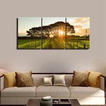 Farm Tree Posters And Prints Sunset Wall Decor Vintage Home Canvas Painting Art Picture Print Living Room Gift