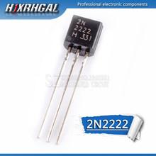 100pcs 2N2222 2N2222A TO-92 TO 92 NPN type low power transistor
