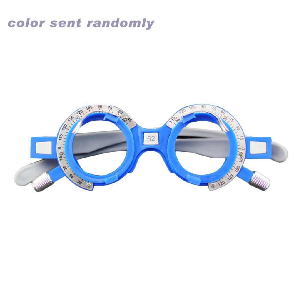 3a2168f59baa Adjustable Optical Trial Lens Frame 52-70mm PD Eye Optometry Optician  Plastic Eyeglasses Frame Eyeglasses