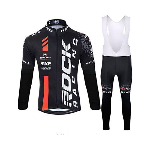 2018 rock Cycling Jersey Sets Long Sleeve Mountain Bike Clothes Wear Maillot Ropa Ciclismo Quick Dry Racing Bicycle Clothing otwzls cycling jersey 2018 set mountain bike clothing quick dry racing mtb bicycle clothes uniform cycling clothing bike kit