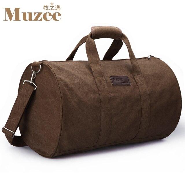 Nueva lona de la manera de los hombres bolsas de viaje, bolso de los hombres de gran tamaño bolsa de viaje con una correa de hombro, al aire libre grandes bolsas de equipaje para los hombres