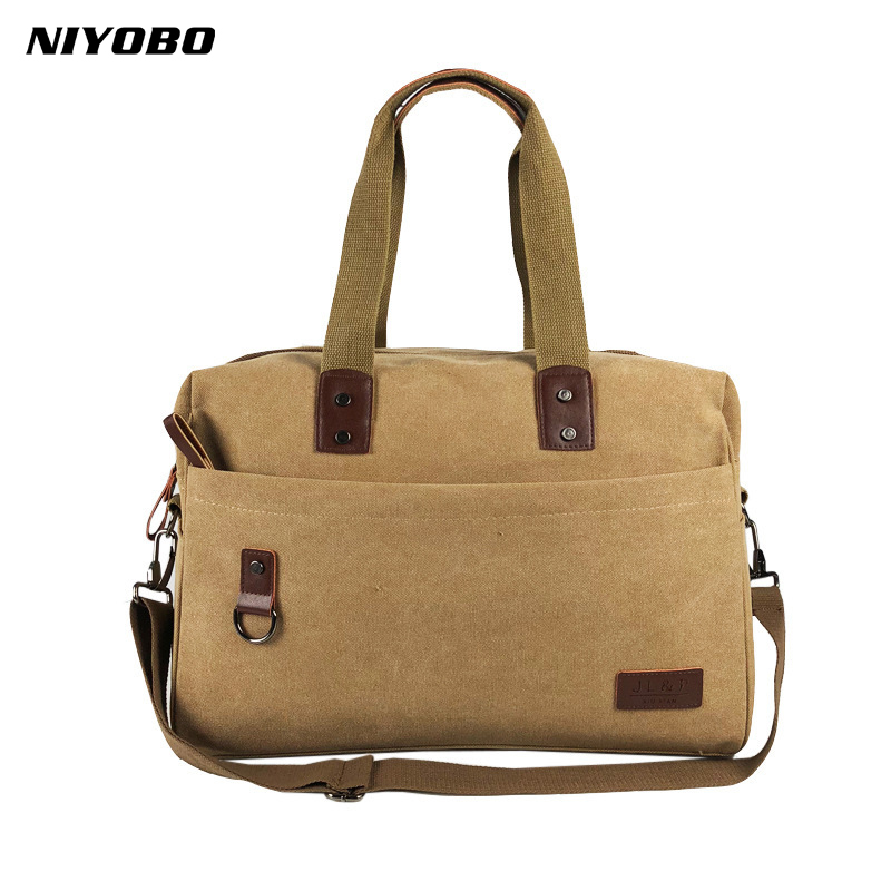 NIYOBO Women Canvas Handbags Solid Female Handbags Vintage Ladies Single Shoulder Bags Casual Men Messenger Totes Bolsas