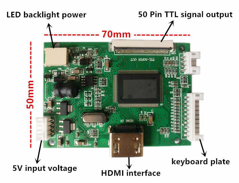 7 cal 1024*600 wyświetlacz lcd hd ekran wysokiej rozdzielczości monitora sterownik płyta sterowania HDMI dla systemu Android Windows Raspberry Pi