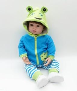 Image 3 - תינוקות Reborn בובת 48cm חדש בעבודת יד סיליקון Reborn ייבי כמו בחיים מקסים ילד Bonecas ילדה ילד סיליקון Menol בובה