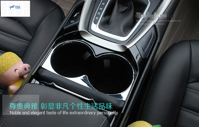 ABS ! Water Cup Holder Armrest Box Decoration Cover Trim Molding Garnish 1 Pcs For Ford Mondeo 2014 2015 / Fusion 2014 2015 2.0L какой смартфон в 2014 2015