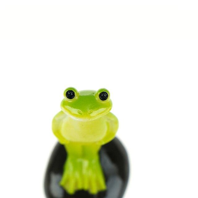Cute Animal frog home Micro fairy garden gnomes figurines kawaii miniatures/terrarium doll decor 6