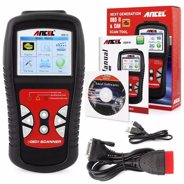 OBD2 Diagnostic Scanner ANCEL AD510 For Car Diagnosis In Russian French Car Fault Code Scan Tools with Update Original AD510