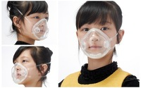 Kid Dust Masks Multifunction Anti fog Pm2.5 Anti dust Transparent Mask With Breathing Filter Anti Pollution Outdoor For Child