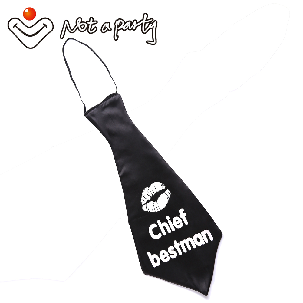 Bachelor stag Fun tie Bachelorette party bye bye life hello wife Chief bestman sex products hen party supplies wedding mariage