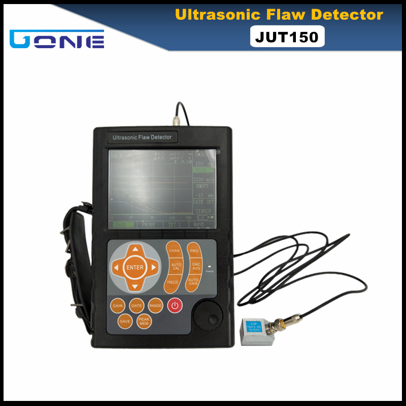 JUT150 ultrasonic flaw detector portable digital metal flaw detector can make report USB PC software