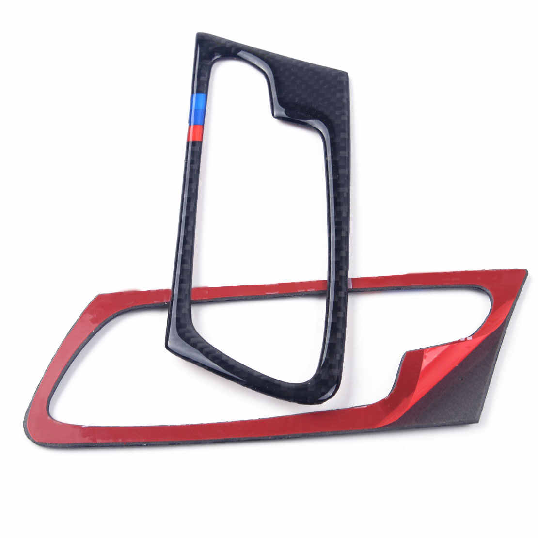 DWCX Envolvente Maçaneta da porta Interior Do Carro Decorativo Quadro Guarnição Da Tampa De Fibra De Carbono para BMW X5 E70 2008 2009 2010 2011 2012 2013