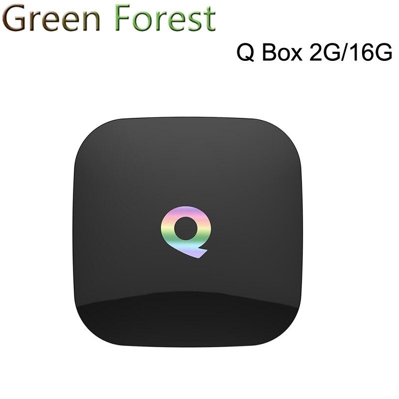 10pcs Q Box KODI16.0 Android 6.0 TV BOX Amlogic S905X 2G/16G Gigabit LAN WiFi H.265 Media Player