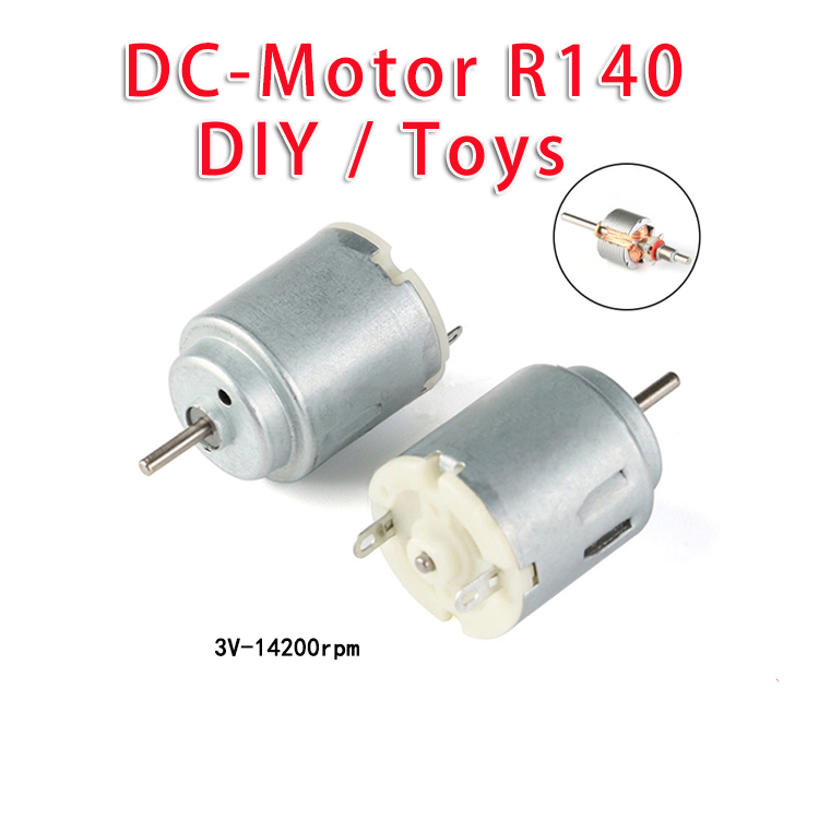 Micro Motor DC R140 140 round GEAR motor 3-6V FOR ARDUINO DIY Toys Hobbies Smart car experiment 14200r pm 2PCS