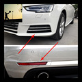 car-styling ABS chrome front rear fog lamps cover trim For Audi A4 B9 2016 2017 car styling