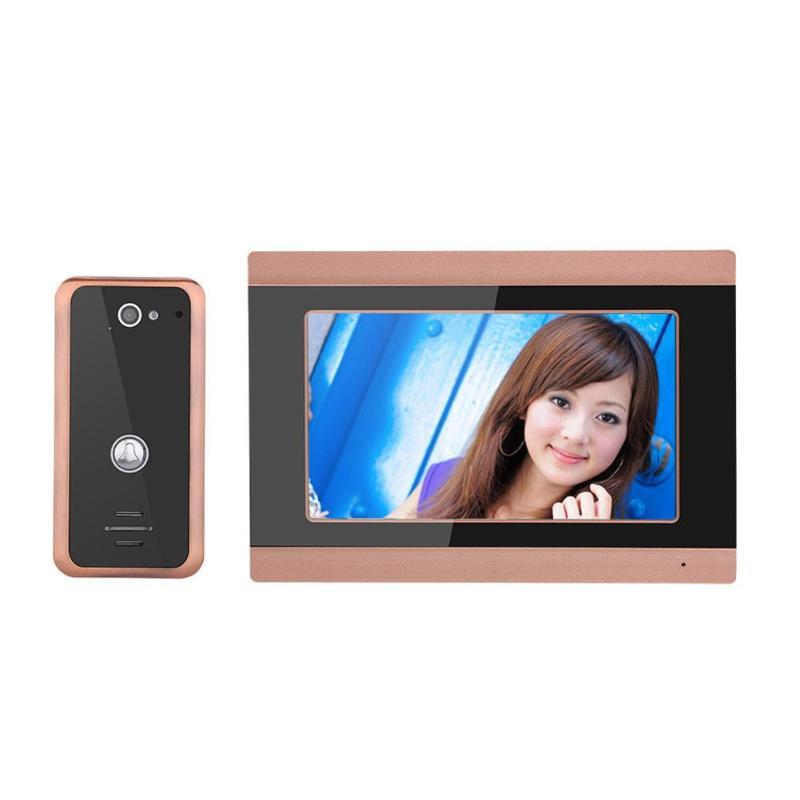 купить 7 inch Night Vision Wired WiFi Video Door Phone Doorbell Intercom Entry System with 1000TVL Wired Camera Support for Remote APP по цене 8617.01 рублей
