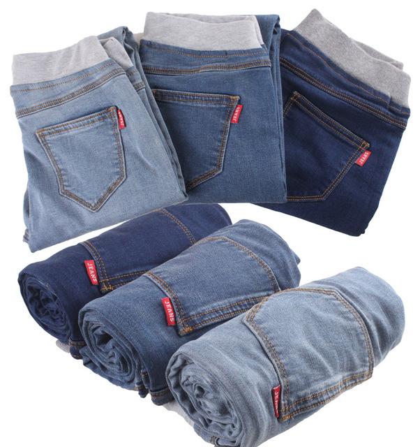 2017 Nuevas Mujeres de Talla grande Flaco Mujer Pantalones Vaqueros de Cintura Elástica Lápiz Pantalones de Mezclilla Azul Jeans Stretch Pantalones Calca Feminina C439