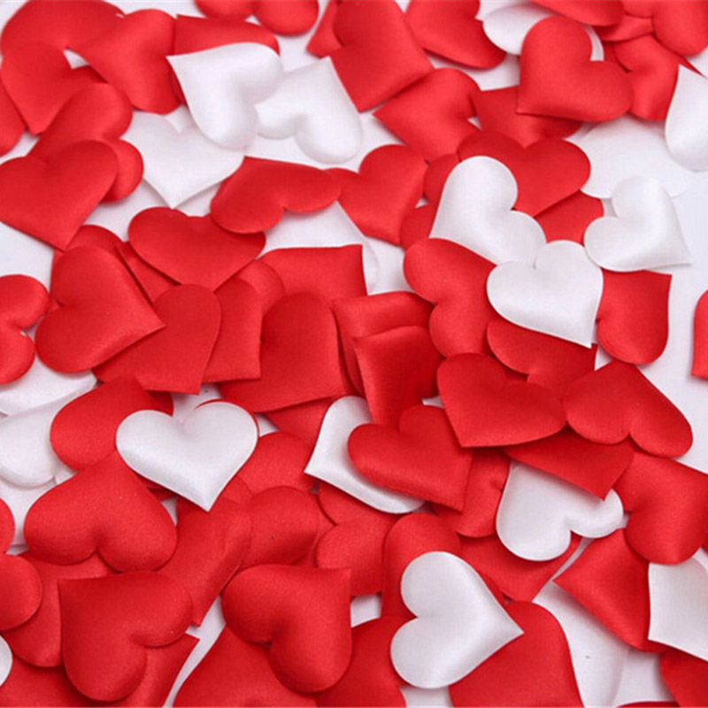 Hospitable 50pcs/set Romantic Wedding Heart Confetti Fabric Table Scatter Birthday Bachelorette Hen Party Favor Valentines Day Supplies Home & Garden Banners, Streamers & Confetti