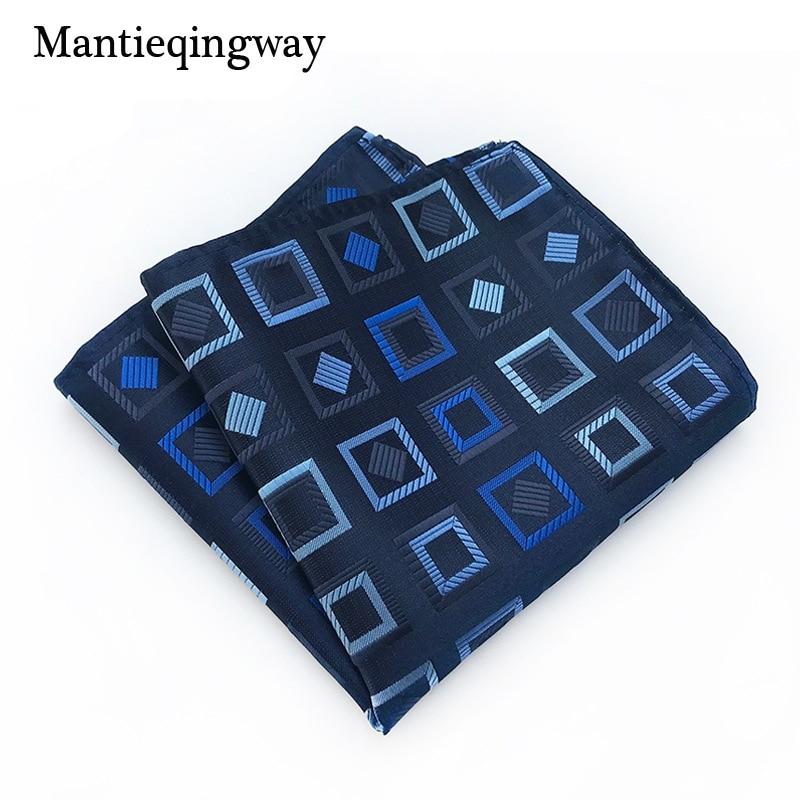 Mantieqingway Polyester Handkerchief Pocket Square For Mens Striped Plaid Pocket Towel Wedding Tuxedo Hankies Chest Towel
