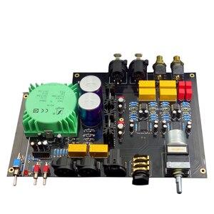 Image 2 - E600 tam dengeli giriş dengeli çıkış kulaklık amplifikatörü TPA6120 Ultra düşük gürültü JRC5532 Op amplifikatör kurulu