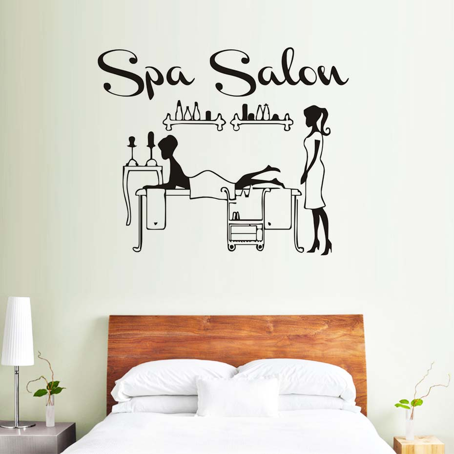 Therapist Spa Woman Salon Relaxation Wall Sticker Masseuse Service