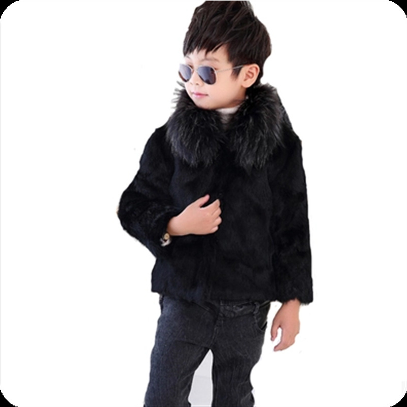JKP 2018 Imitation Fox fur grass boy coat new autumn and winter warm thickening boy jacket children fashion jacket FPC-253 5615 new fashion children natural fur jacket boy