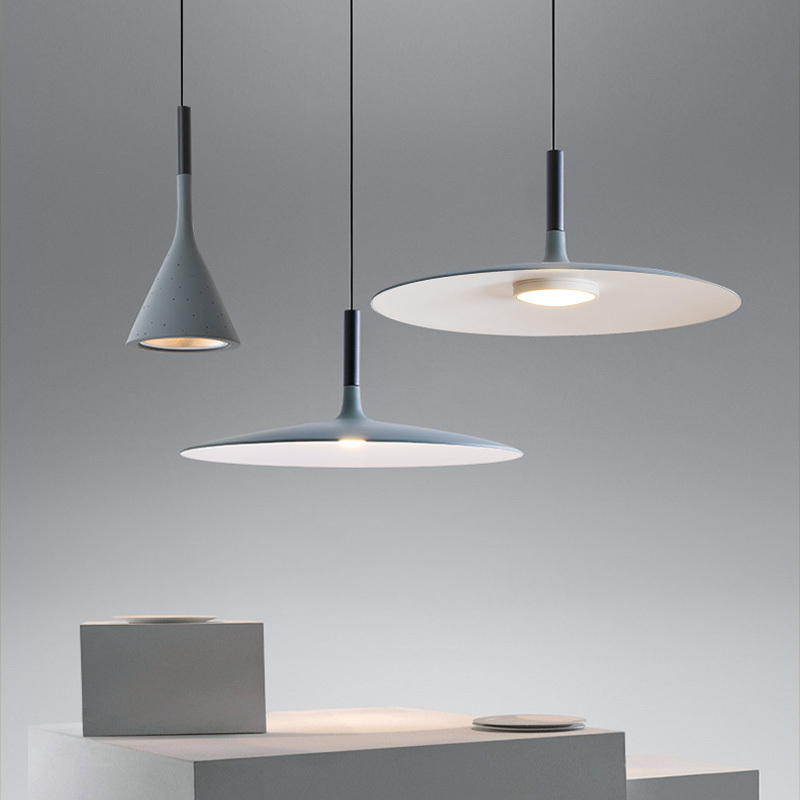 Cuisine nordique Imitation ciment lampes suspendues résine LED lampes suspendues chambre salle à manger Restaurant Bar Loft suspension
