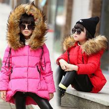 Детская одежда мужчин зимняя хлопка-ватник 2016 вниз хлопок ватные куртки утолщение девушки сгущает Капюшоном пальто