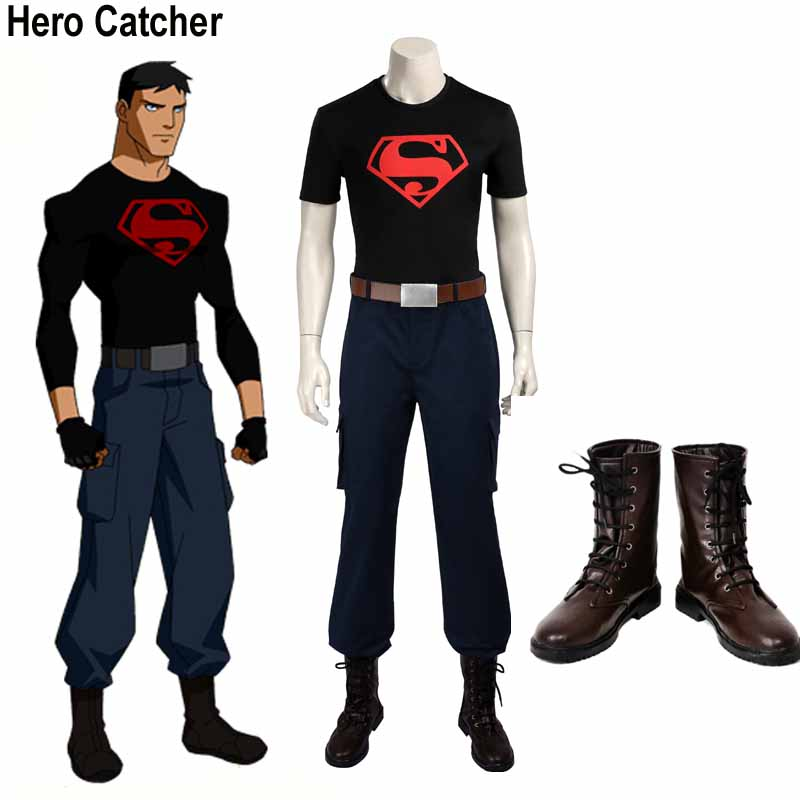 Hero Catcher High Quality Superboy Costume Set Young Justice Season 2 Costume ...
