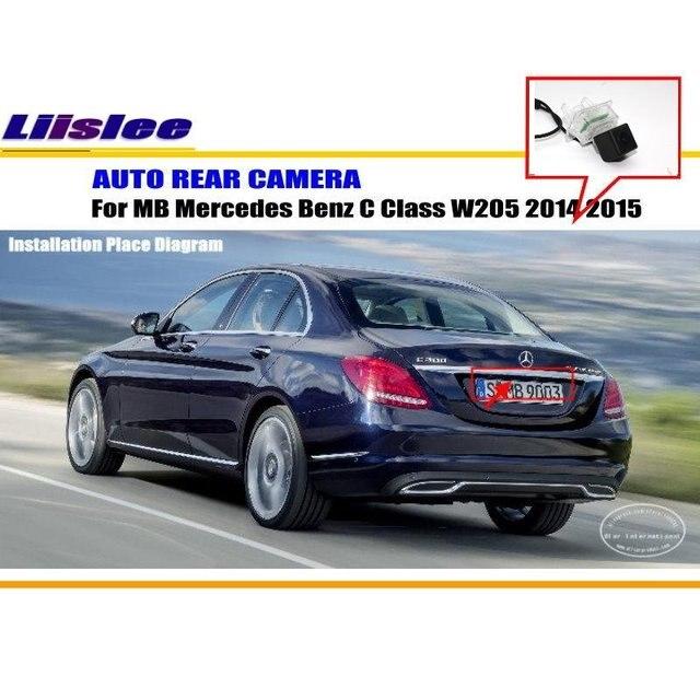 Câmera Traseira Do Carro Para Mercedes Benz C Class Liislee W205 2014 2015/Câmera  Traseira
